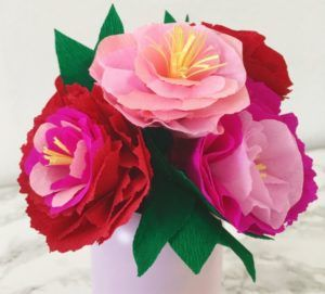 photo bouquet fleurs papier