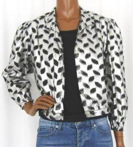 veste courte femme argentée
