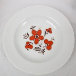 assiette fleurie vintage