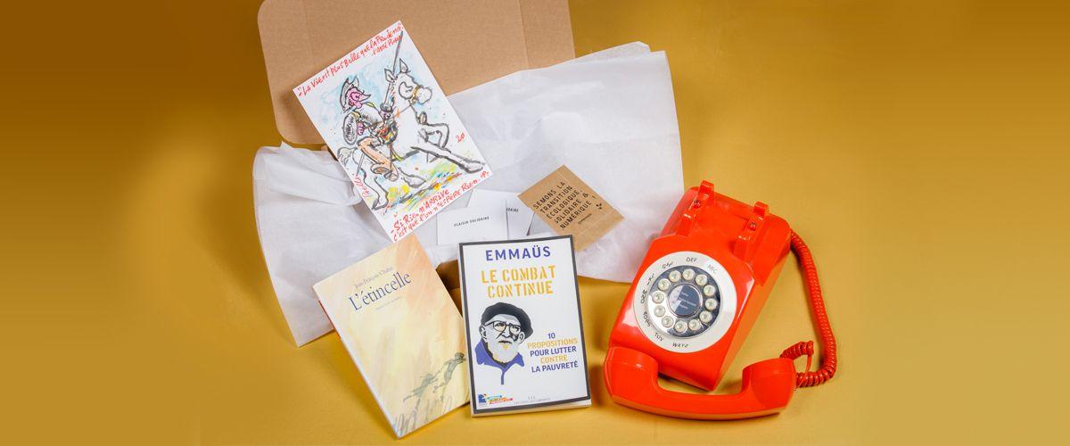 Les artistes s'invitent dans la box de noël Label Emmaüs