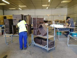 création bois recyclé
