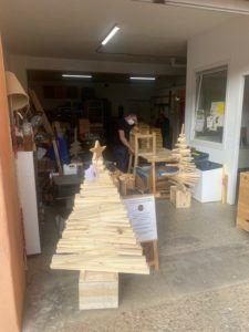 sapin noel bois recyclé