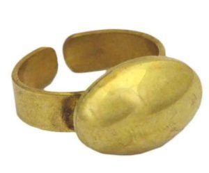bague commerce équitable seconde main vintage tendance dorée ovale ronde