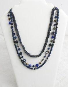 colliers multi rangs solidaire vintage must have noir perles
