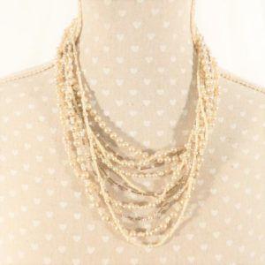 colliers multi rangs solidaire vintage must have perles élégant mamie ancien