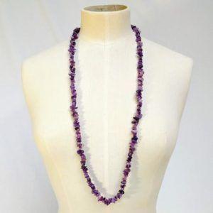 perles corail pierres colliers vintage must have seconde main violet