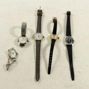 montre or dorée vintage seconde main chic élégant cadran bracelet fin lot noir plusieurs modernes