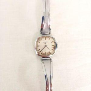 montre or dorée vintage seconde main chic élégant cadran bracelet fin argent argentée