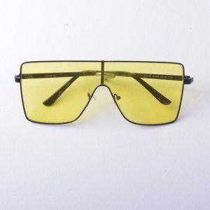 lunettes de soleil vintage emmaus seconde main années 2000 jaune noire original déguisement dj