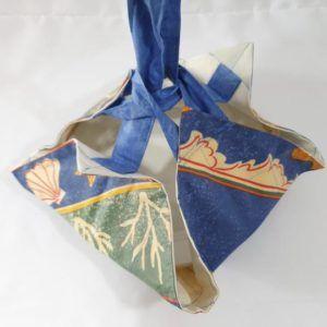 Zéro déchet - Sac à tarte original motifs bleu cuisine extérieur écolo éthique responsable